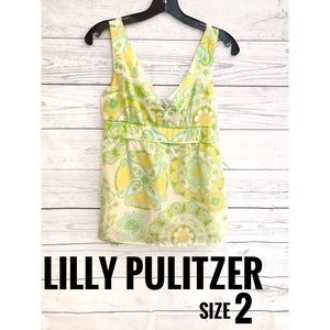 Lilly Pulitzer Pattern Silk Tank Top